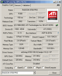 Radeon 9700 PRO GPUZ