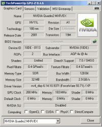Quadro2 MXR/EX GPUZ