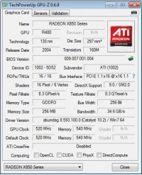 X850 XT GPUZ